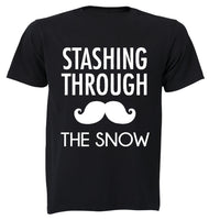 Stashing Through the Snow - Christmas - Adults - T-Shirt - BuyAbility South Africa