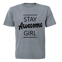 Stay Awesome Girl! - Kids T-Shirt - BuyAbility South Africa