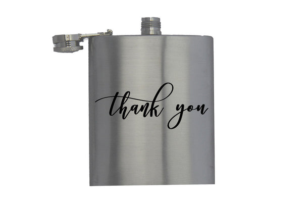 Thank You - Hip Flask