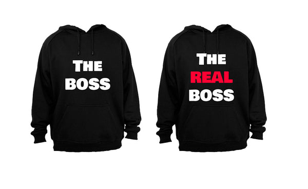 The Boss - The REAL Boss - Couples Hoodies (1 Set) - BuyAbility South Africa