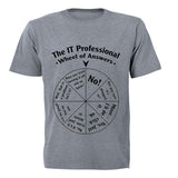 The IT Professional - Wheel of Answers - Adults - T-Shirt