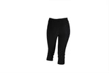 Ladies Black Three Quarter Pants