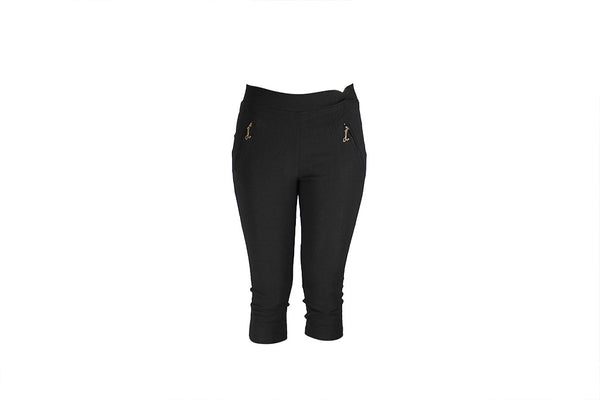 Ladies Black Three Quarter Pants - BuyAbility