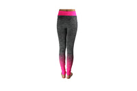 Pink Full Length Striped Gym Tights