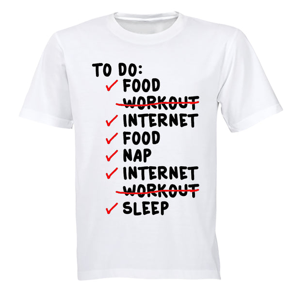 To Do List - Adults - T-Shirt - BuyAbility South Africa