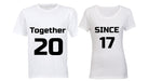 Together Since 2017 - Couples Tees