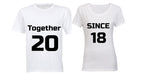 Together Since 2018 - Couples Tees