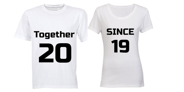 Together Since 2019 - Couples Tees