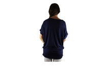 Navy Blue Travel Top with Sparkle