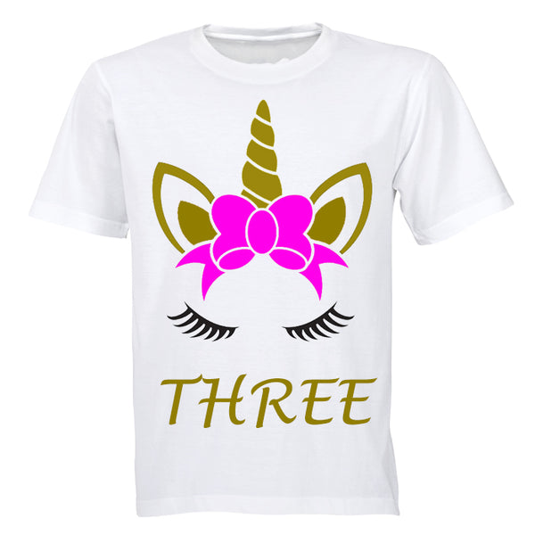 Unicorn - Three - Kids T-Shirt - BuyAbility South Africa