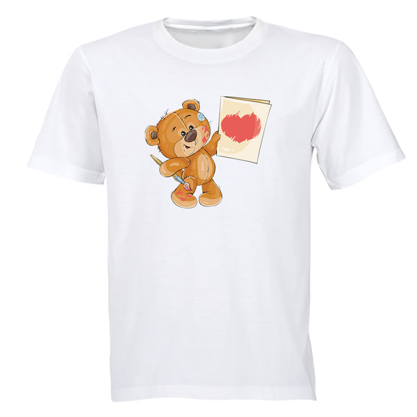 Valentine Painter Teddy - Kids T-Shirt - BuyAbility South Africa