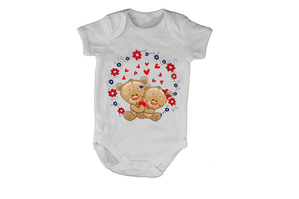 Valentine Teddies, Circular - Baby Grow - BuyAbility South Africa