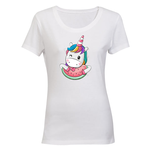 Watermelon Unicorn - Ladies - T-Shirt - BuyAbility South Africa