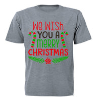 We Wish You a Merry Christmas - Colourful - Adults - T-Shirt - BuyAbility South Africa