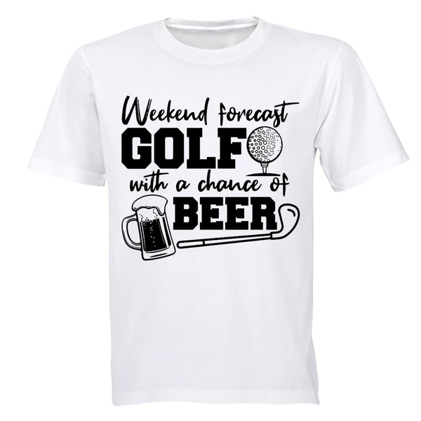 Weekend Forecast - Golf - Adults - T-Shirt - BuyAbility South Africa