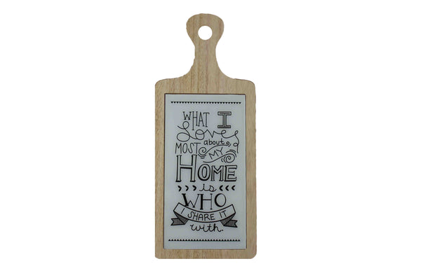 'What I love Most About My Home' Wooden Board with Glass - BuyAbility South Africa