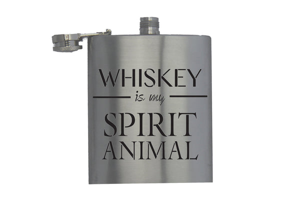 Whisky is my Spirit Animal - Hip Flask