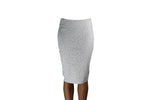 White Skirt with Lace Pattern Design - BuyAbility