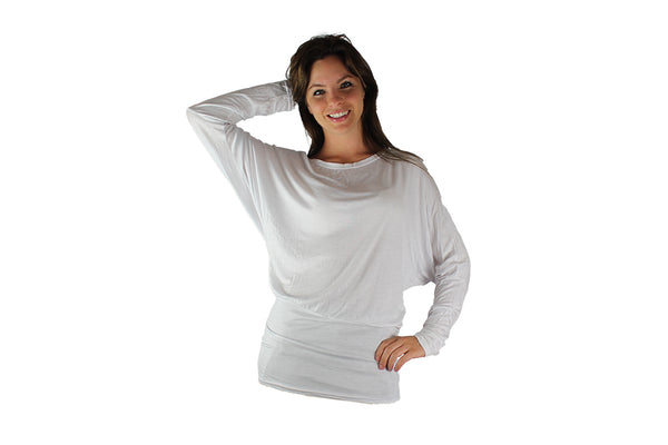 White Long Sleeve Top With Lace Backing - BuyAbility South Africa