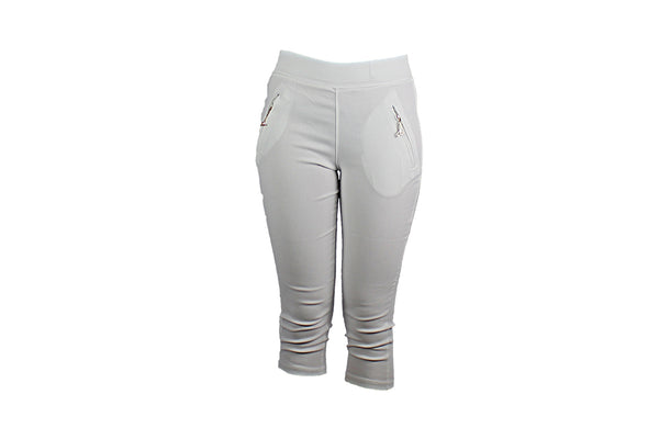 White Three Quarter Pants - BuyAbility