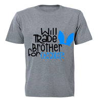 Will Trade Brother for Chocolate - Blue - Kids T-Shirt - BuyAbility South Africa