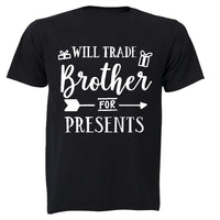 Will Trade Brother for Presents - Christmas Arrow - Kids T-Shirt - BuyAbility South Africa