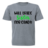 Will Trade Sister for Candy - Halloween - Kids T-Shirt - BuyAbility South Africa