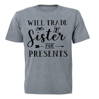 Will Trade Sister for Presents - Christmas Arrow - Kids T-Shirt - BuyAbility South Africa