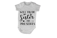 Will Trade Sister for Presents - Christmas Arrow - Baby Grow - BuyAbility South Africa
