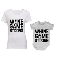 Wine / Whine Game Strong - Mommy | Baby Grow