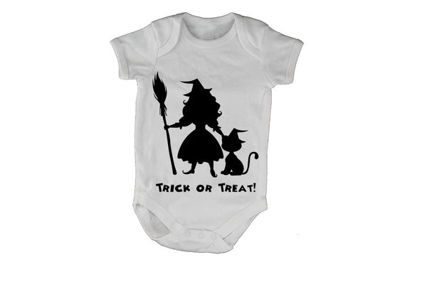 Little Witch and Cat - Halloween - Baby Grow - BuyAbility South Africa