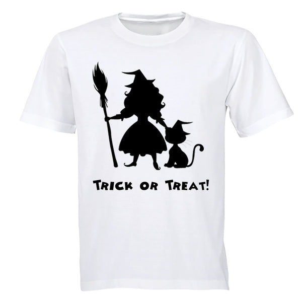 Little Witch and Cat - Halloween - Kids T-Shirt - BuyAbility South Africa