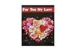 Large 'For You My Love' Valentines Card
