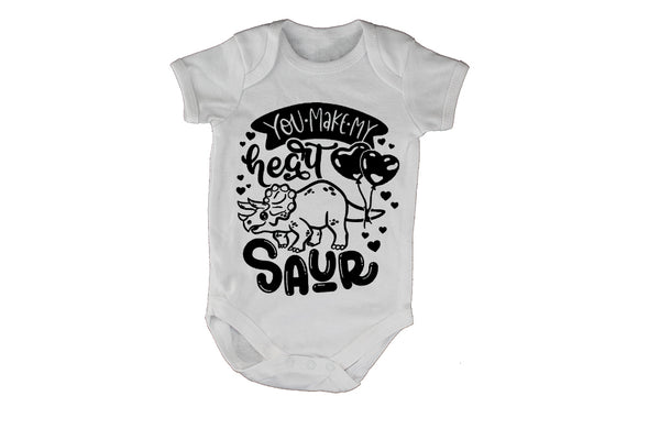 You Make My Heart, SAUR - Valentine - Baby Grow - BuyAbility South Africa