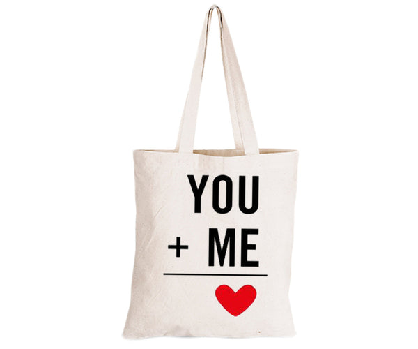 You + Me = Love - Eco-Cotton Natural Fibre Bag