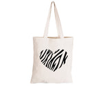Zebra Heart - Eco-Cotton Natural Fibre Bag