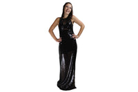 Long Black Sequence Dress - BuyAbility South Africa