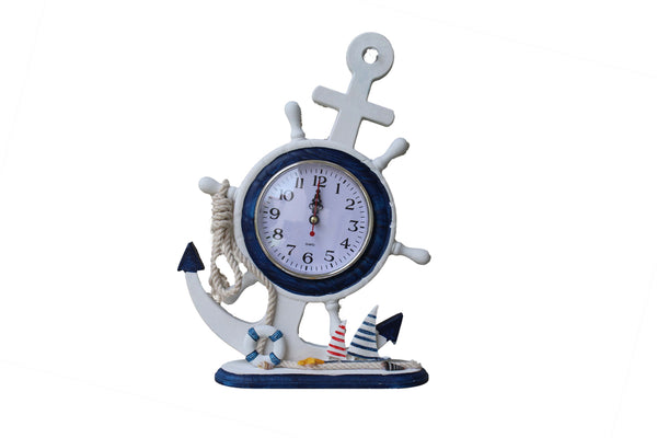 Nautical Standing Clock with Sailing Boats & Life Saver - BuyAbility South Africa