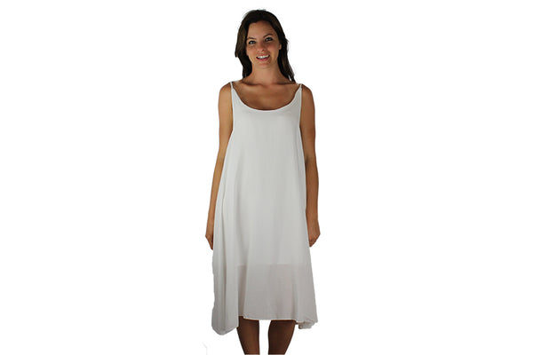 White Woven Back Casual Dress - BuyAbility South Africa