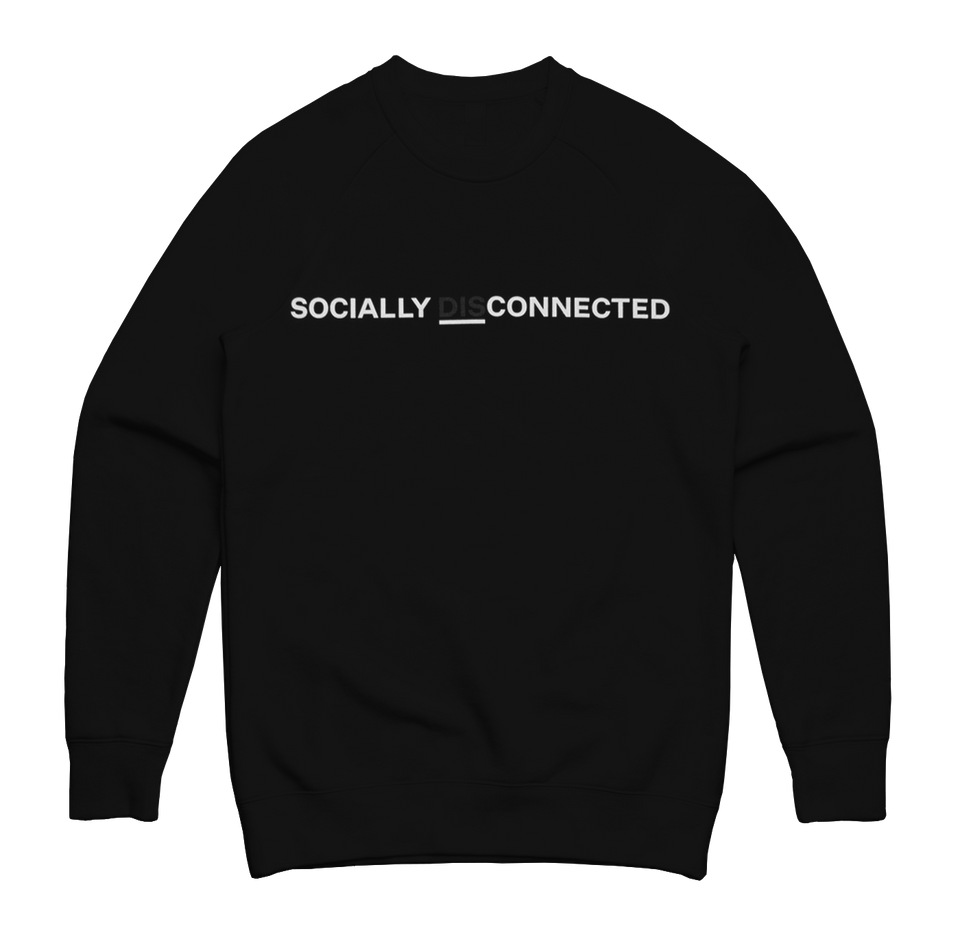 Disconnected Black Sweatshirt
