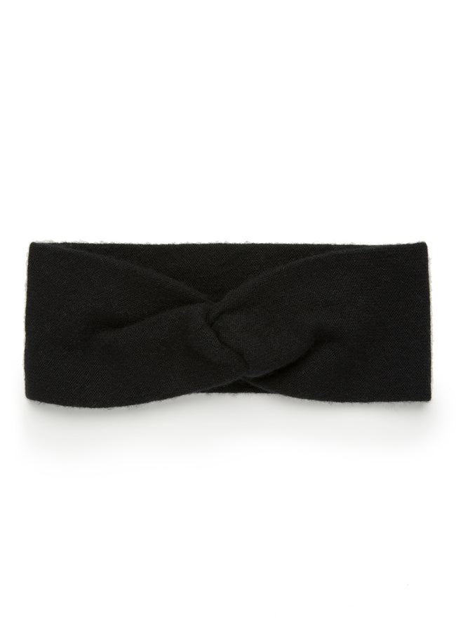 womens black cashmere headband