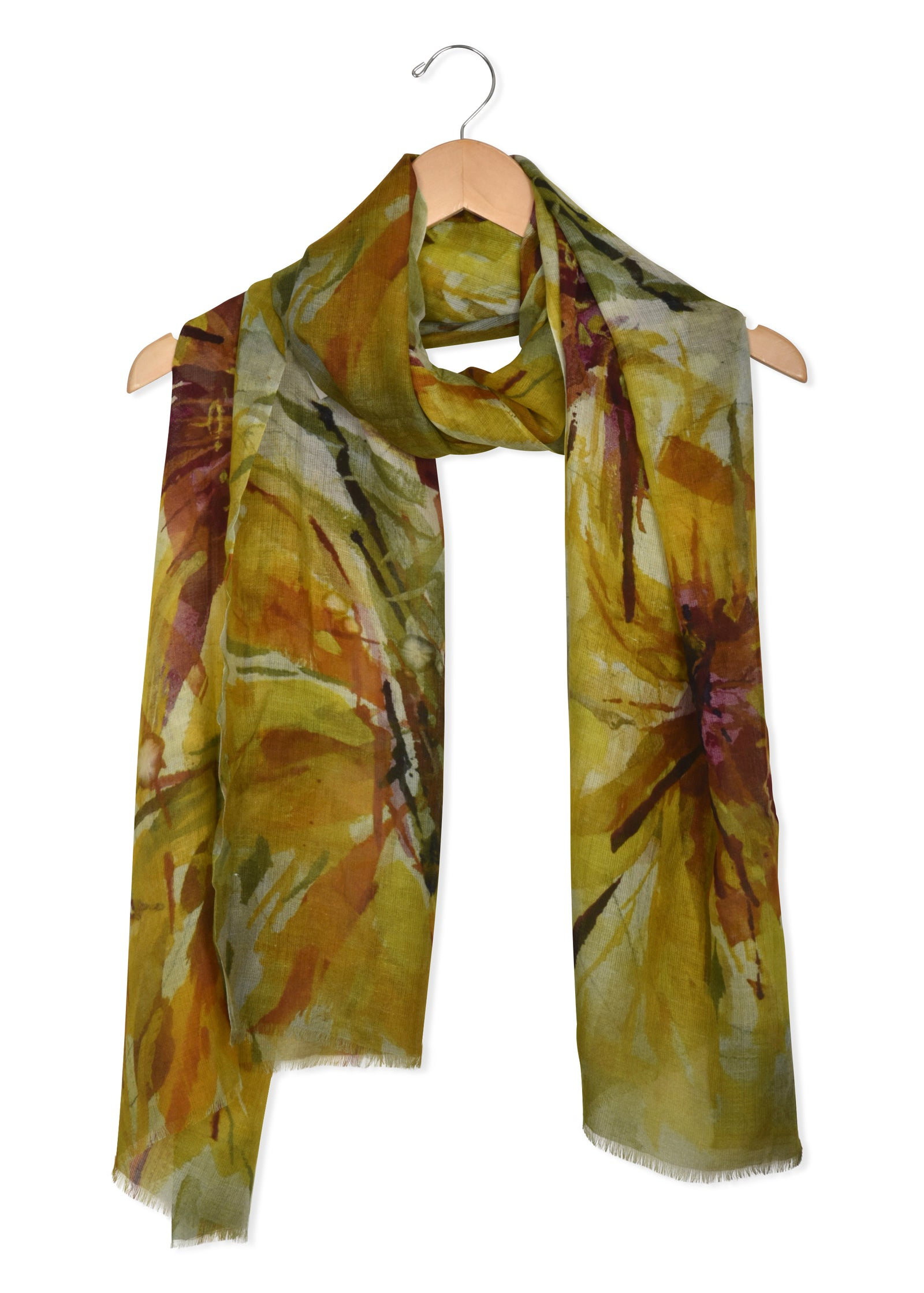 womens sunflower modal scarf wrap