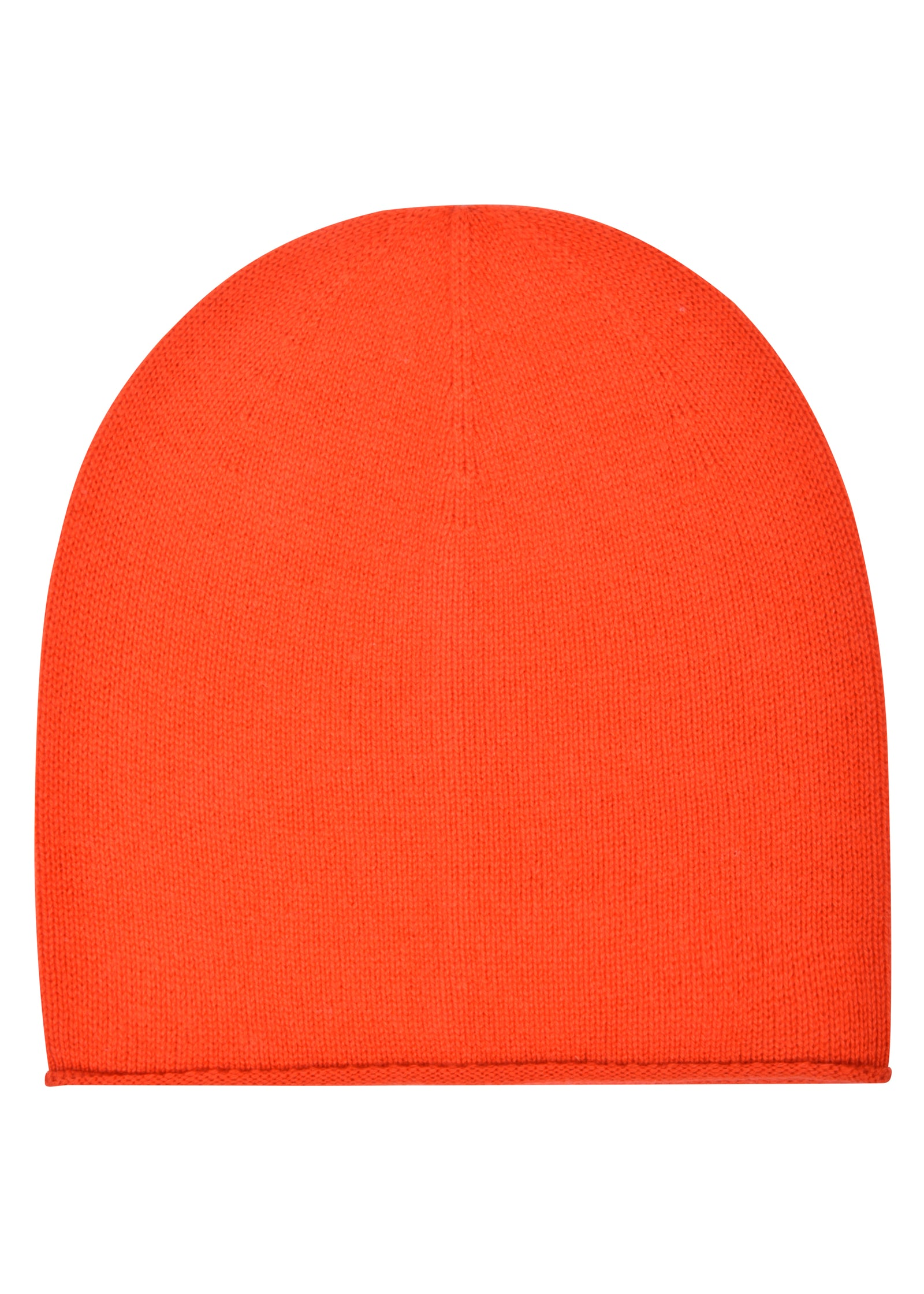 womens orange cashmere slouch hat