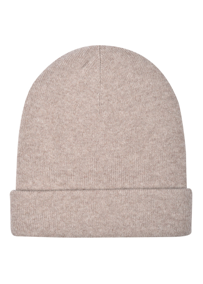 womens oatmeal cashmere hat