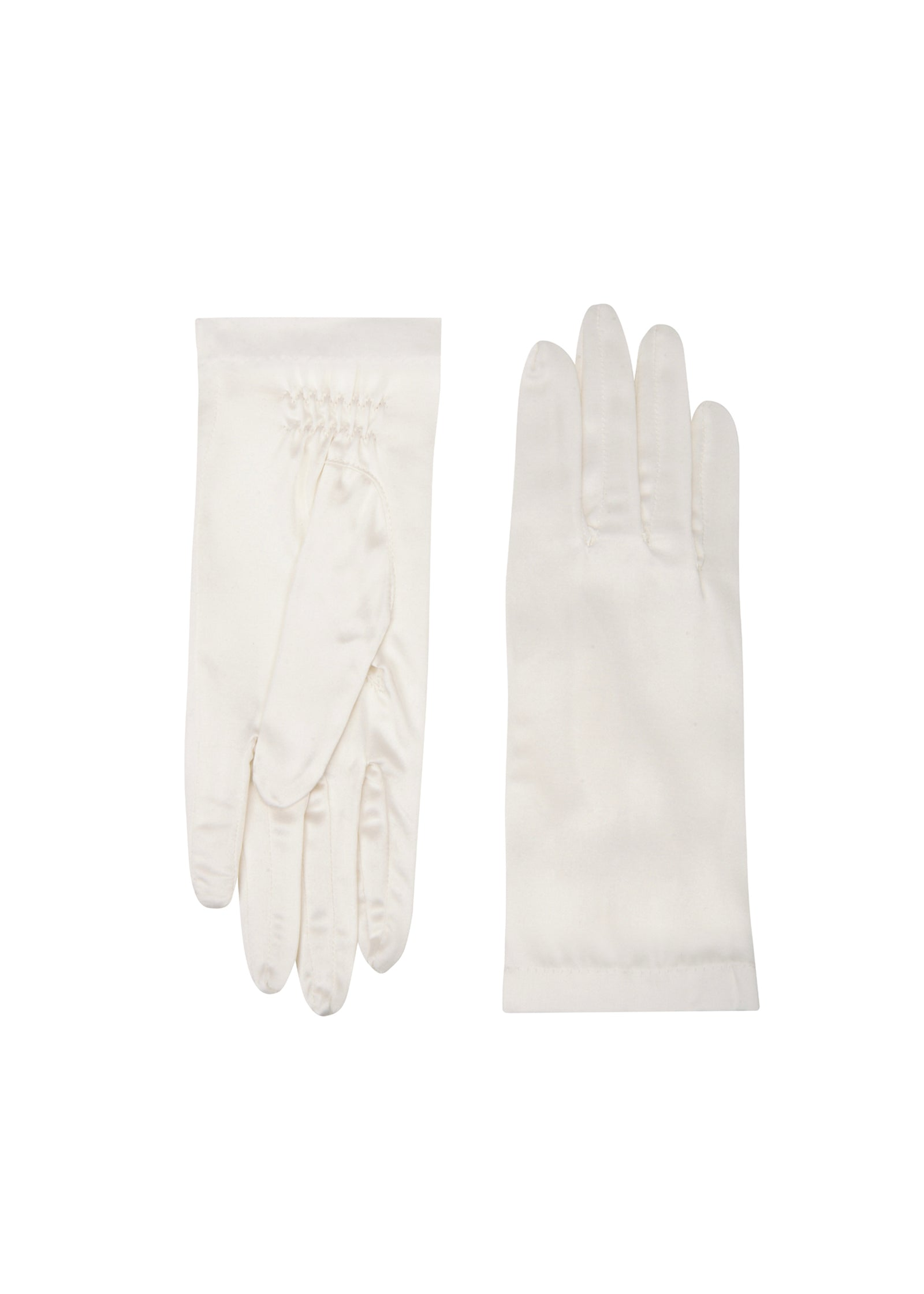 womens diamond silk wrist length glove