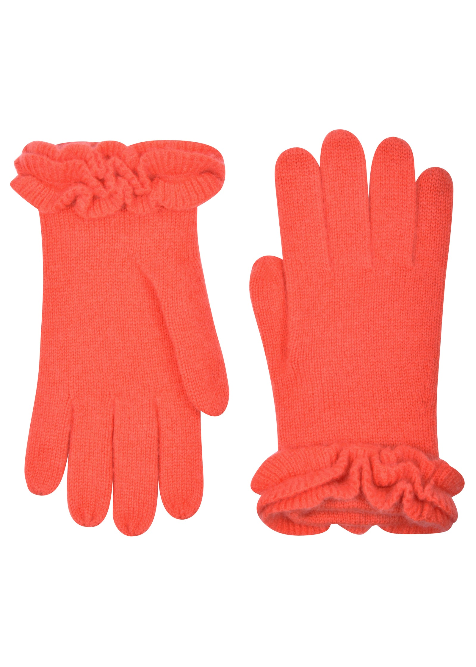 womens coral cashmere blend wrist length glove