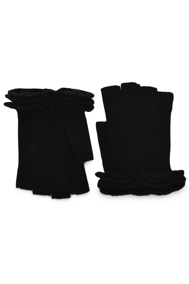 Ruffle Finger less in Black