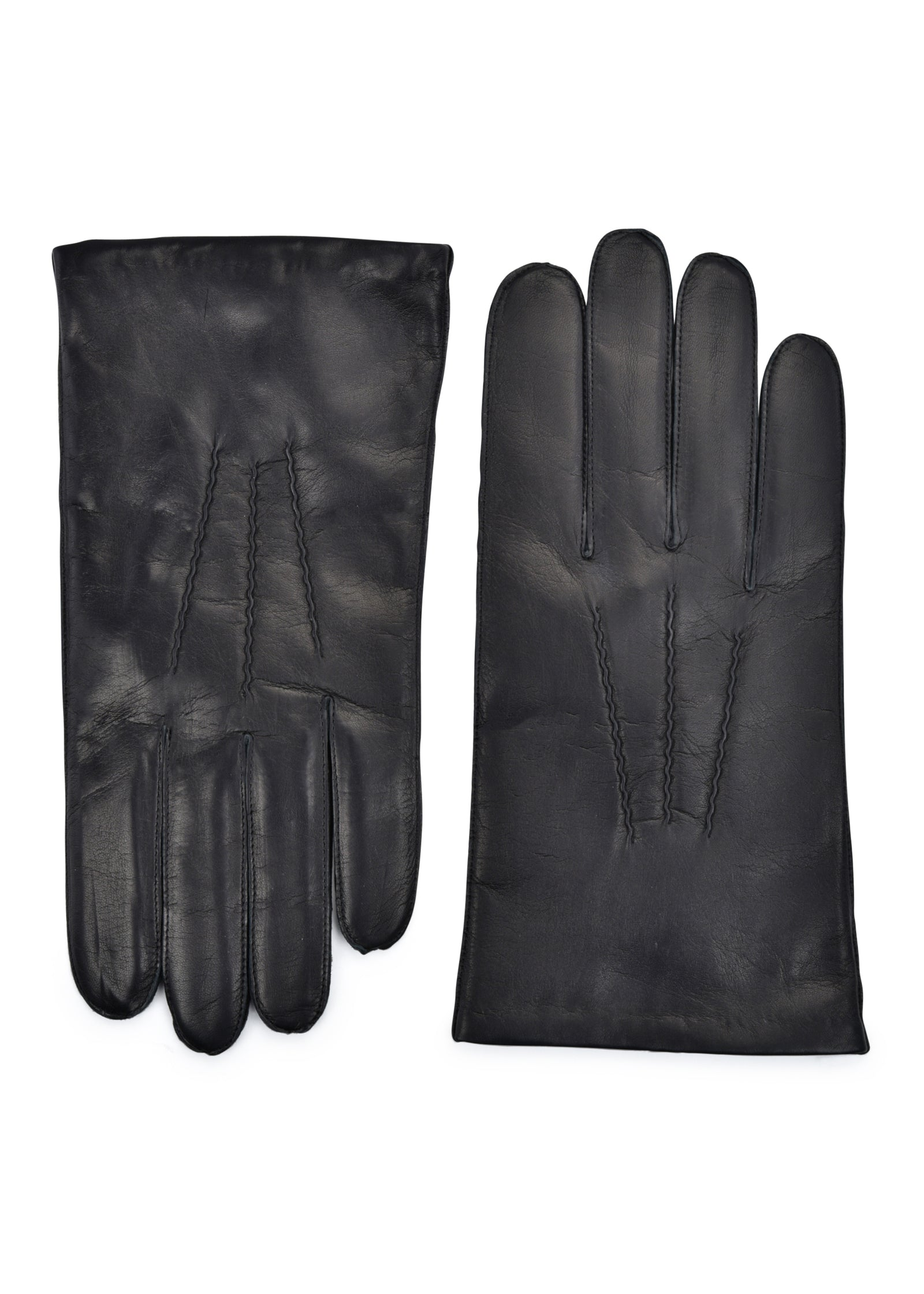 mens black lambskin cashmere blend lined wrist length glove