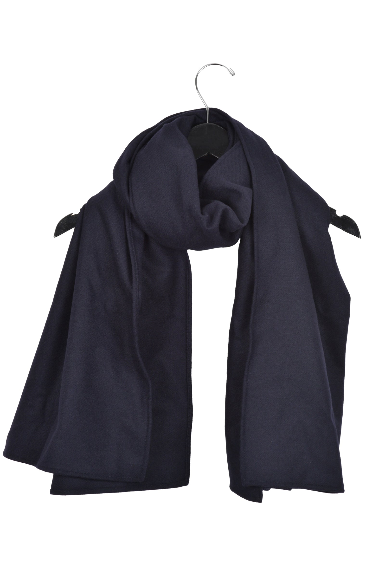 Wool Scarf in Navy