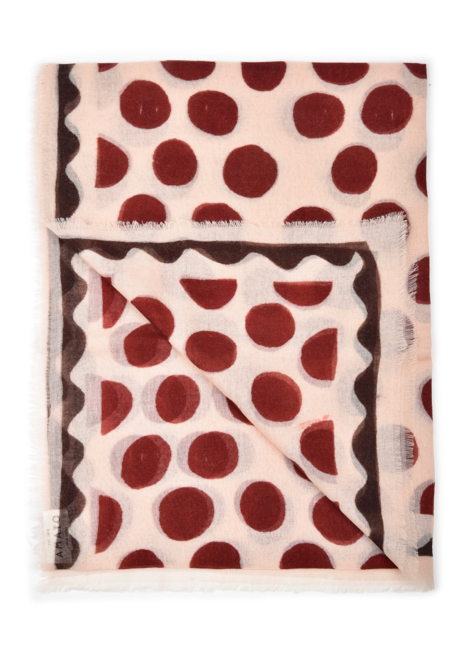 womens polka dots wool & silk blend scarf wrap